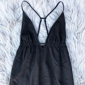 Silence + Noise / Black Spaghetti Strap Long Dress